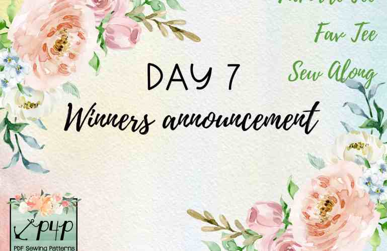 Favorite/Fav Tee SAL – day 7 (winners announcement)