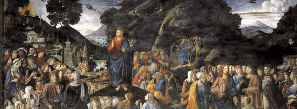 Painting of the Sermon on the Mount by Rosselli