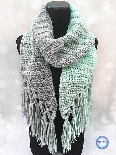 Crochet Mint Cicle Scarf Pattern