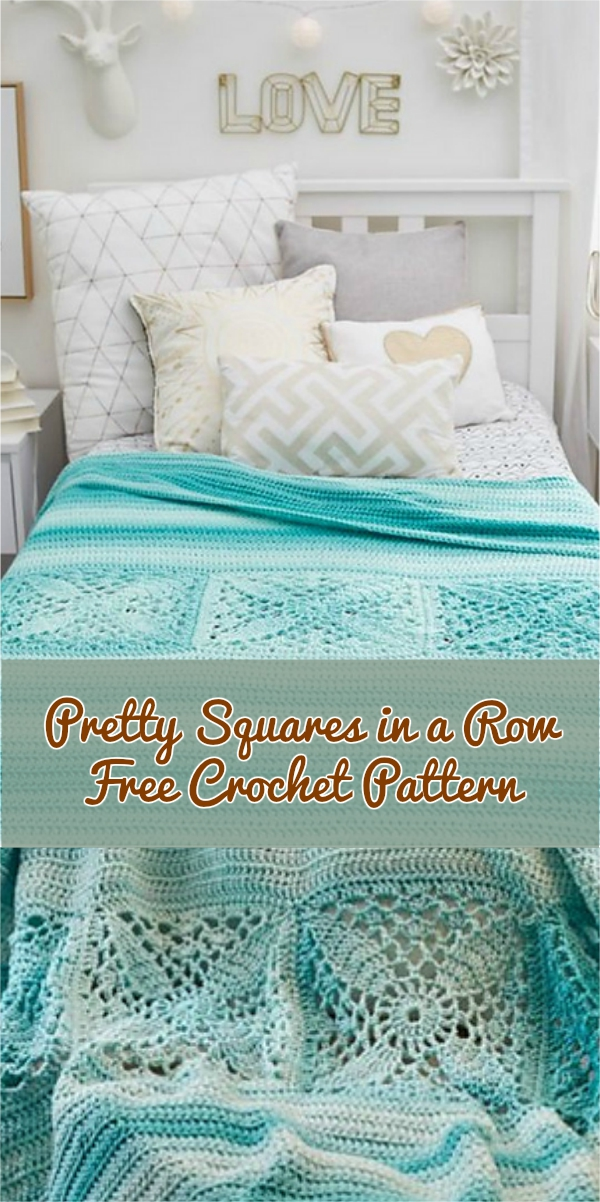 Pretty Squares in a Row Free Crochet Pattern