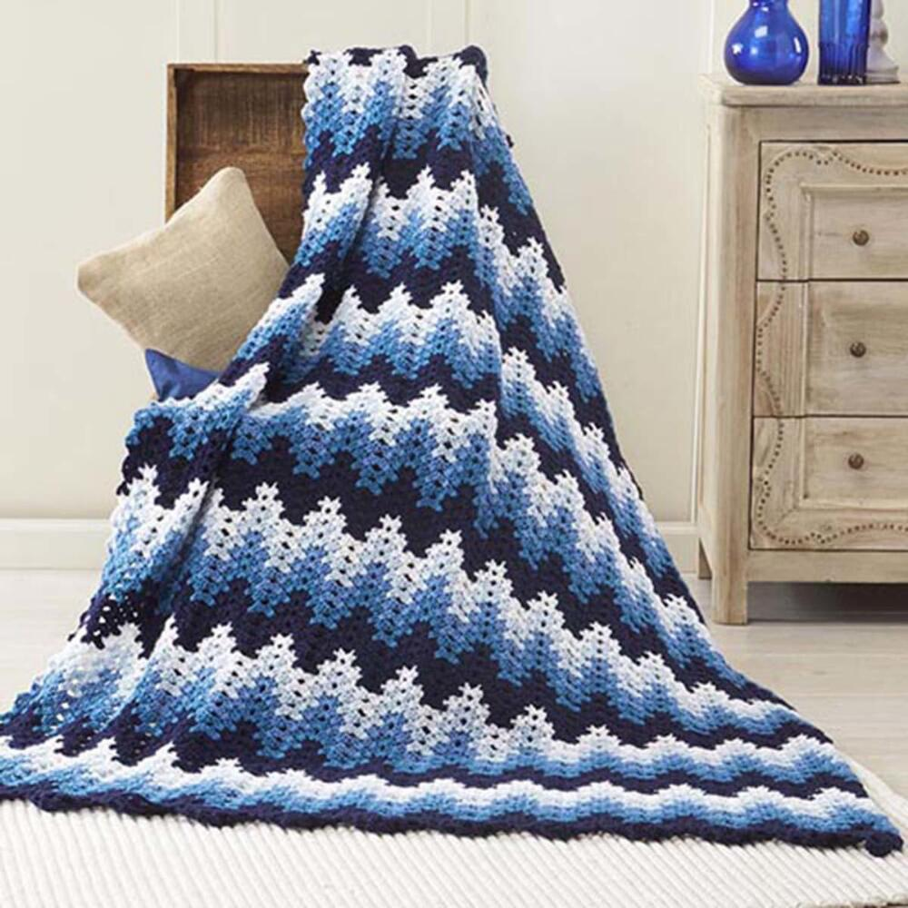 Nightshade Ripple Blanket Crochet Pattern