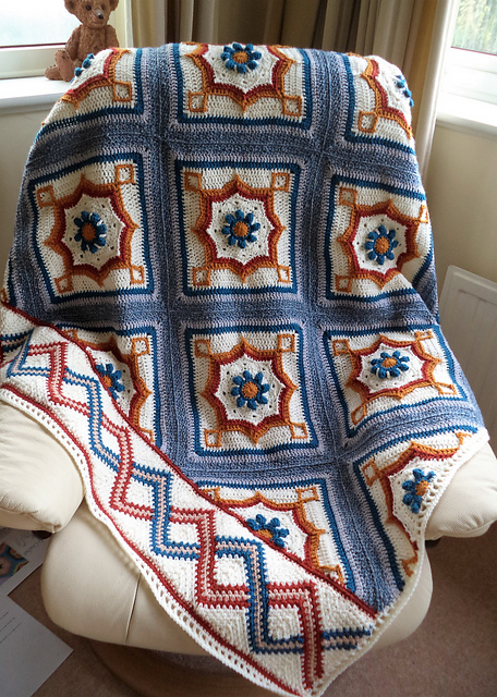 """Blair Road"" Blanket Free Crochet Pattern"