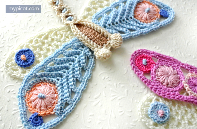 Dragonfly Free Crochet Pattern