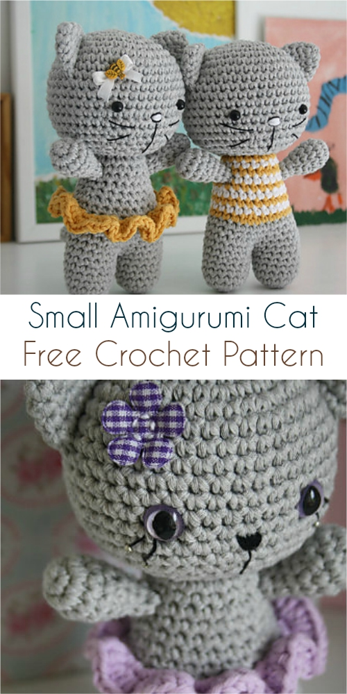 Small Amigurumi Cat Free Crochet Pattern