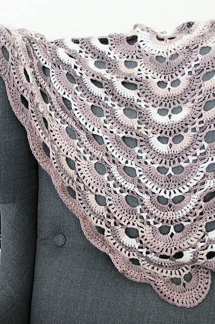 Virus Shawl Free Crochet Pattern