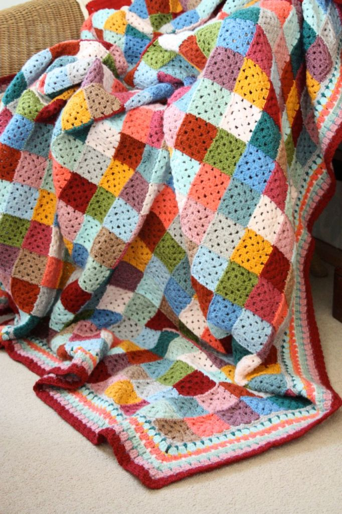 Giant Granny Patches Free Crochet Pattern