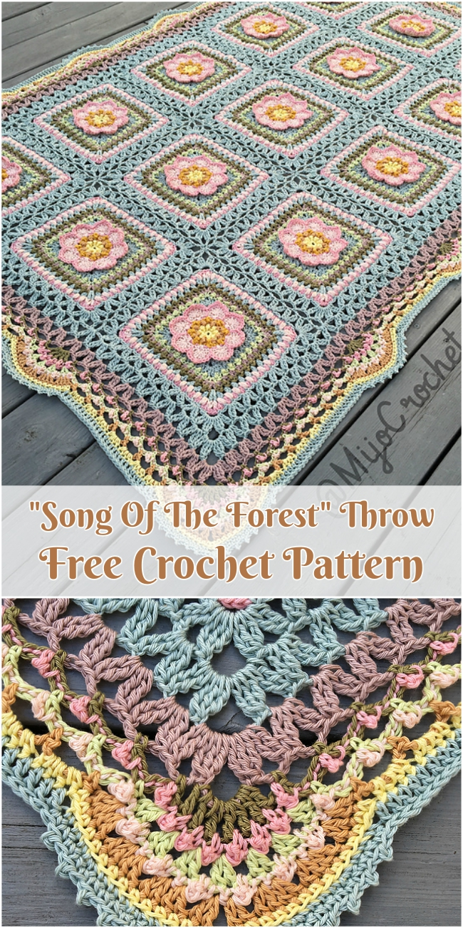 """""""Song Of The Forest"""" Throw Free Crochet Pattern"""