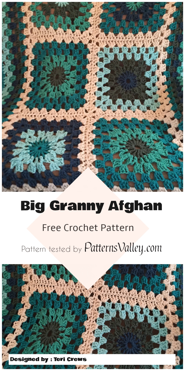 Cozy Big Granny Crochet Afghan - Free Pattern