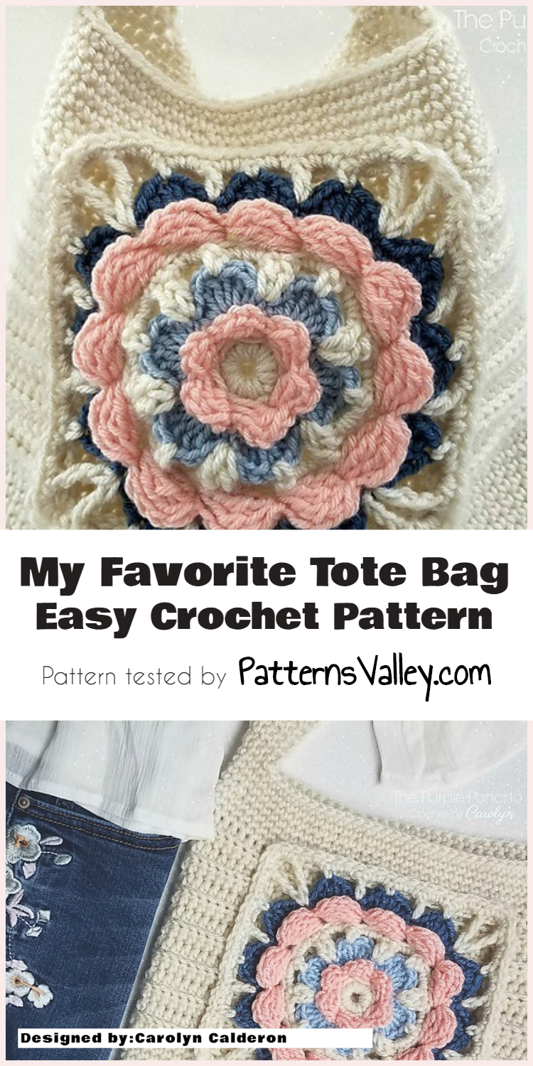 My Favorite Tote Bag Easy Crochet Pattern