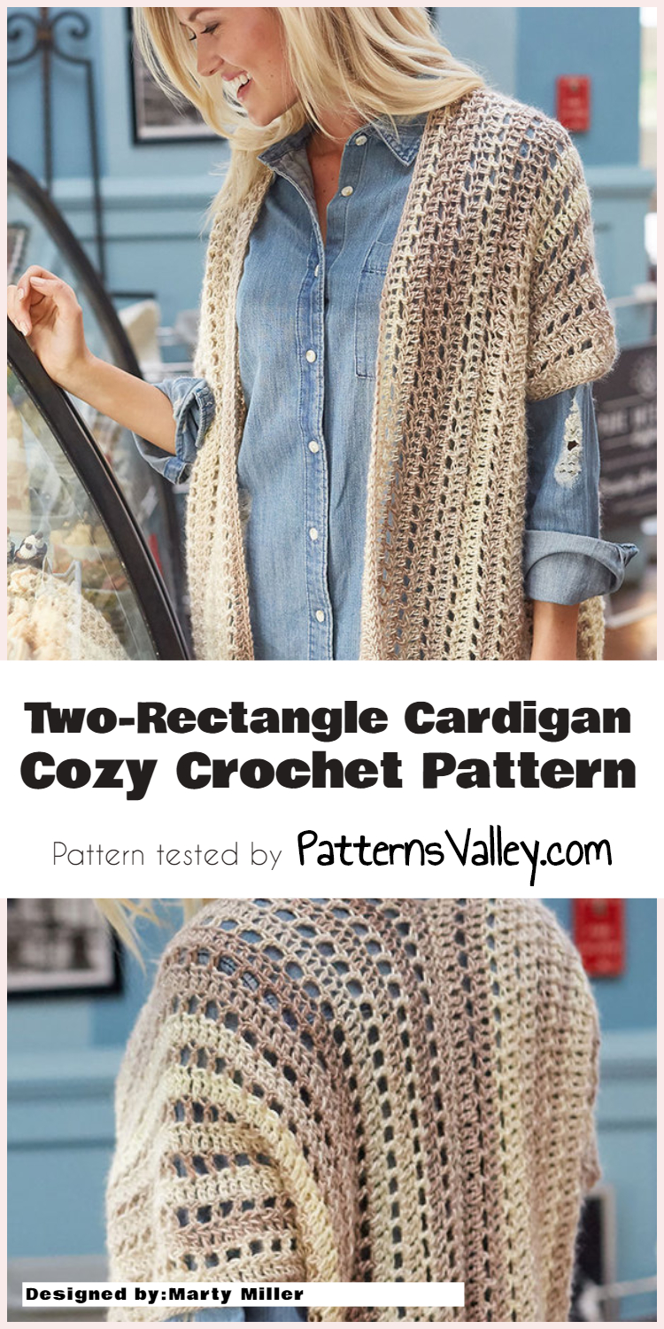 Two-Rectangle Cardigan - Cozy Crochet Pattern