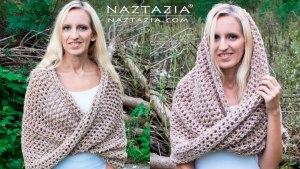 DIY Tutorial - How to Crochet Mobius Twist Shawl and Hooded Cowl