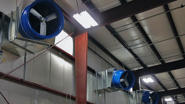 supply exhaust fans industrial wall