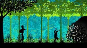 Enfant dans la forêt