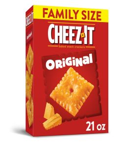 Cheez-It Original Baked Cheese Crackers – Family Size 21 Oz Box