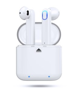 Bluetooth 5.0 Wireless Stereo Earbuds Headphones, Noise Cancelling with Built-in Mic and Charging Case, Hands-free Calling Sweatproof In-Ear Headset Earphone Earpiece for iPhone/Android Smart Phones