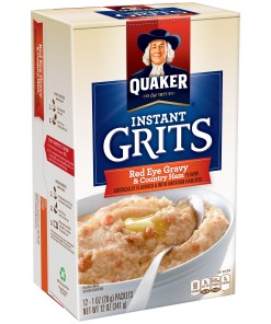 Quaker Instant Grits, Red Eye Gravy & Country Ham, 12 Packets