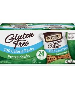 Snyder's of Hanover Gluten Free Pretzel Sticks, 100 Calorie Individual Packs (24 Count)