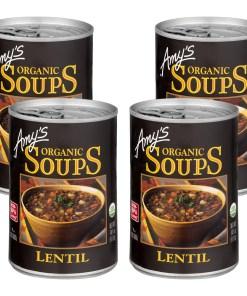 (4 Pack) Amy's Organic Vegan Lentil Soup, 14.5