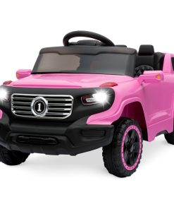 Best Choice Products 6V Kids Ride On Car Truck w/ Parent Control, 3 Speeds, LED Headlights, MP3 Player, Horn – Pink