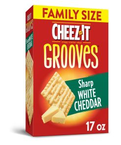 Cheez-It Crunchy Cheese Snack Crackers Sharp White Cheddar Family Size 17 Oz