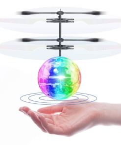 2 PackFlying Ball Toy Drones Hand-Controlled Drone Flying Toys Interactive Infrared Induction Helicopter Ball with 360°Rotating and Flashing LED Lights Charge 20 mins& play 7mins