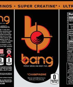 (12 Cans) Bang Champagne Energy 16 fl oz