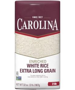 Carolina Long Grain Enriched White Rice, 2-Pound Bag