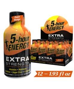 (12 Count) 5-hour ENERGY® Shot, Extra Strength, Peach Mango, 1.93 oz