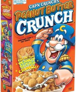 Cap'n Crunch Breakfast Cereal, Peanut Butter Crunch, 17.1 oz Box
