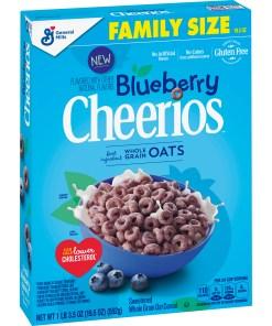 Blueberry Cheerios, Gluten Free Cereal, 19.5 oz