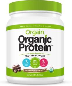 Orgain Organic Plant Based Protein Powder, Chocolate, 21g Protein, 1.0lb, 16.0oz