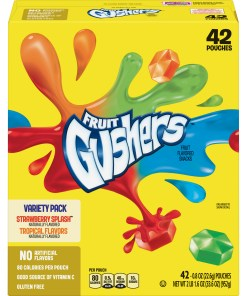 Gushers Strawberry Splash and Tropical Flavors 42 Count