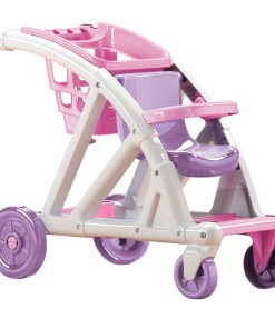 American Plastic Toys Shop With Me Doll Stroller with Shopping Cart
