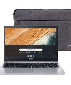 Acer 315 15.6″ Celeron 4GB/32GB Chromebook, 15.6″ HD Display, Intel Celeron N4000, 4GB LPDDR4, 32GB eMMC, Protective Sleeve, Chrome OS – CB315-3H-C2C3