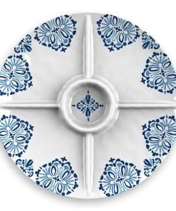 Better Homes & Gardens Milani Melamine Divided Server Plate