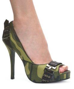 """423-PFC, 4"""" Heel Open Toe Pump Shoes"""