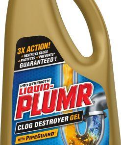 Liquid-Plumr Pro-Strength Full Clog Destroyer Plus PipeGuard, 32 Ounces