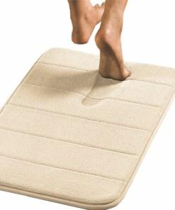 24″X17″ Memory Foam Bath Mat Micro plush Suede Fabric Anti Slide Clearance Sales