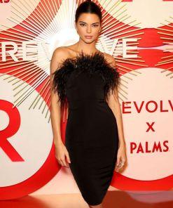 Vestidos Bandage Luxury Black Bandage Dress Mini Party Strapless Bandage Dress Bodycon Women Feather Dress Club