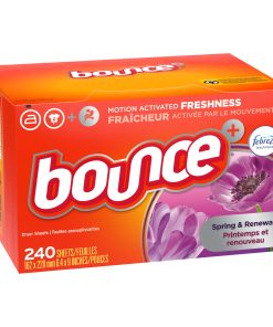 Bounce Fabric Softner Dryer Sheets, Febreze Scent Spring & Renewal, 240 Count