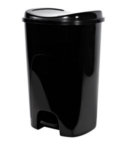 13-gallon Hefty StepOn Trash Can, High Polish Black