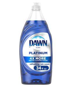 Dawn Platinum Liquid Dish Soap, Refreshing Rain Scent, 34 Fl Oz