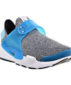 Nike Sock Dart SE Women's Shoe Grey/Blue Lagoon/White/Black 862412-002 (5 B(M) US)
