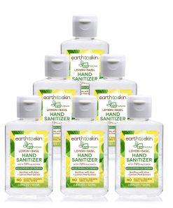 (6 Pack) Earth to Skin Hand Sanitizer Gel, 2 oz Lemon + Basil