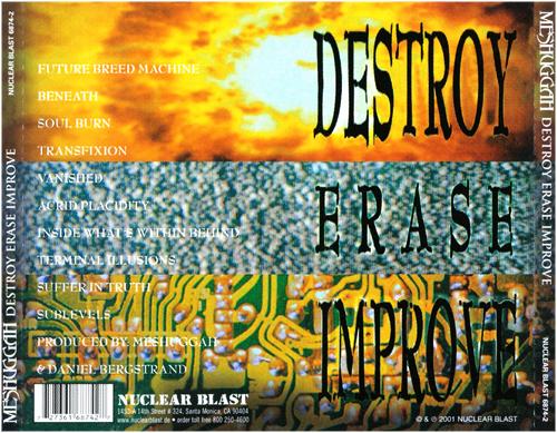 Resultado de imagen para meshuggah destroy erase improve
