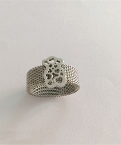 Stainless Steel Trendy Bear-Shaped Ring