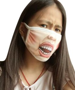 Creative Mischievous Mouth Mask Anti-Dust Warm Face Masks D_Adult section