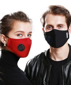 1PC Anti PM2.5 Cotton Anti-dust Activated Carbon Filter Mask With Valve