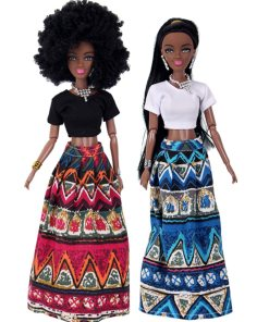 2019 NEW Baby Dolls For Girls Baby Movable Joint African Doll Toy Black Doll Best Gift Toy Hot sale  baby dolls for kids