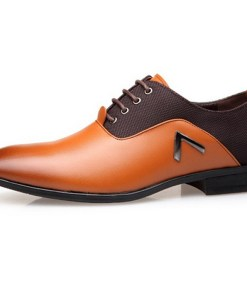 Men's Comfort Shoes PU Fall & Winter Oxfords Black / Brown / Yellow